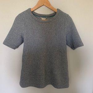Boden Textured Gray Top